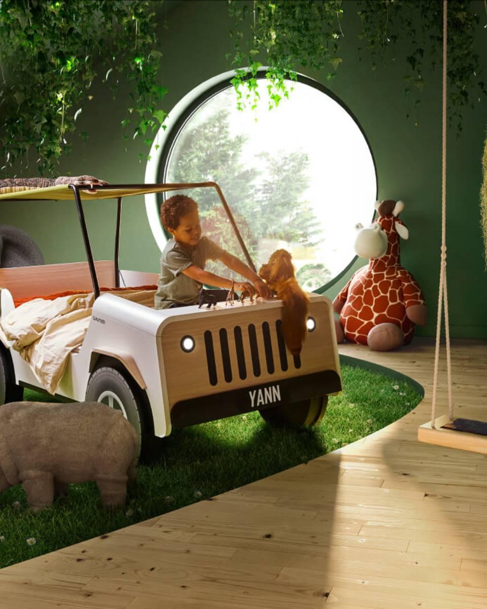 Lit JIIP, ré-interprétation du lit-voiture Gautier